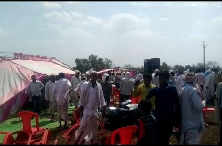 नकुलनाथ की सभा का पांडाल गिरा, कईयों को आई चोट