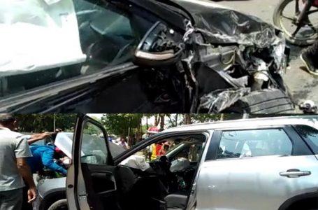 सड़क दुर्घटना में घायल हुए लालू के लाल तेज प्रताप यादव, अस्पताल मे भर्ती
