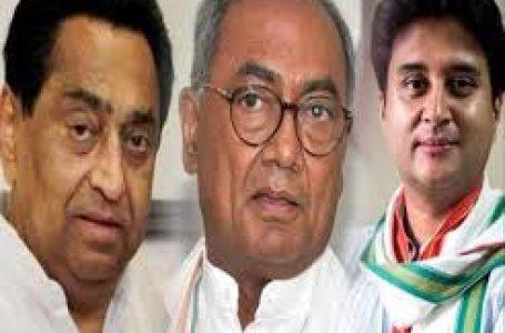 प्रदेश कांग्रेस अध्यक्ष को लेकर कमलनाथ और सिंधिया के बाद दिग्गी गुट भी हुआ सक्रिय , ये दो नाम आगे रखे ।