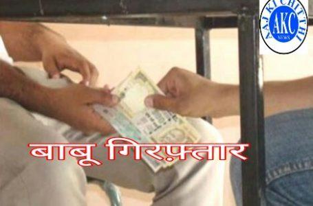 जलसंसाधन के बाणसागर परियोजना का बाबू रिश्वत लेते लोकायुक्त टीम ने गिरफ्तार किया।