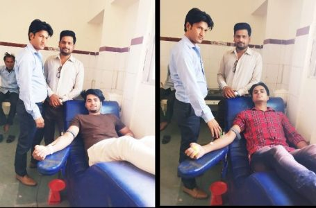 श्योपुर में सोशल साइट पर मिली सूचना के बाद अस्पताल पहुंचकर दो युवकों ने किया रक्तदान