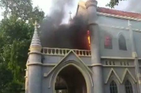 मध्य प्रदेश के जबलपुर हाईकोर्ट में लगी भीषण आग