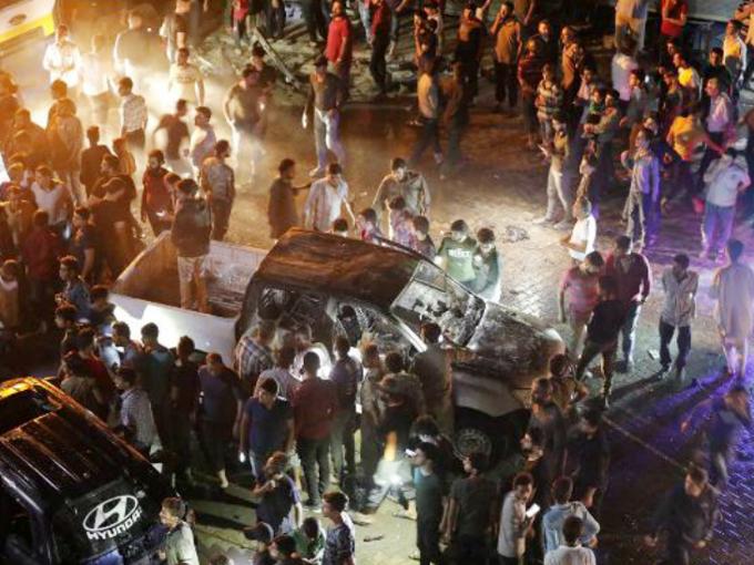 A car exploded in Syria's Azaz city, 14 killed