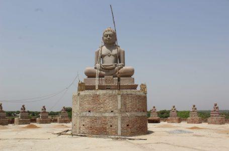 BHIND News : णमोकार मंत्र से गुंजित होगी चंबल 21 फीट ऊंची भगवान अजीत नाथ की प्रतिमा विराजी