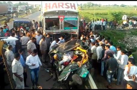 शिवपुरी न्यूज: ओटो पर चढ़ाया ट्रक 5 की मौत, 3 घायल पूरनखेड़ी टोल प्लाजा के पास हुआ हादसा