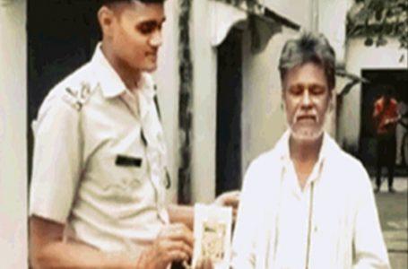 गुना -गांजा तस्कर थाना प्रभारी से बोला गांजा शंकरजी की बूटी है,थाना प्रभारी ने गीता हाथ मे देकर जेल भेजा ।