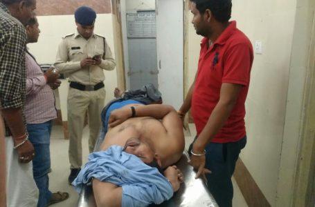 शराब माफिया का पुलिस पर हमला, दो आरक्षक घायल