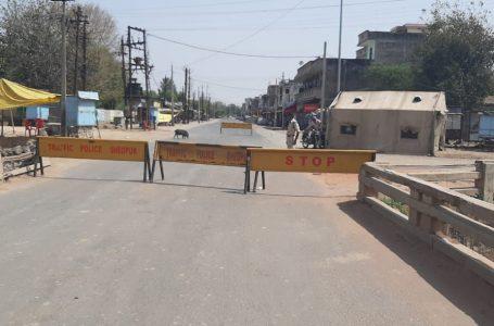 SHEOPUR CORONA NEWS TODAY : सडक़ों पर पसरा रहा श्योपुर में कर्फ्यू  के पहले दिन