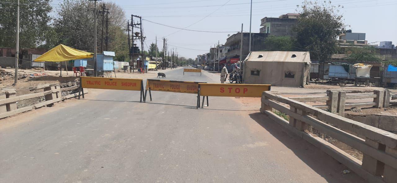 सडक़ों पर पसरा रहा श्योपुर में कर्फ्यू के पहले दिन