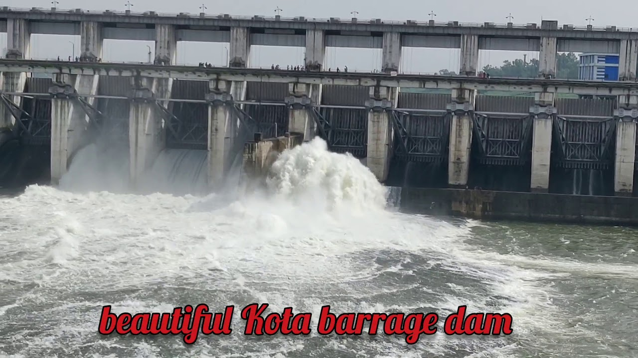 Water released from Kota Barrage in Chambal River