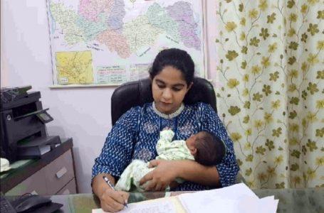 22 दिन की बच्ची को गोद मे लेकर ऑफिस पहुची IAS  सौम्या पांडेय, देशभर मे हो रही है तारीफ